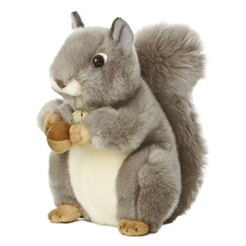 Realistic Stuffed Squirrel